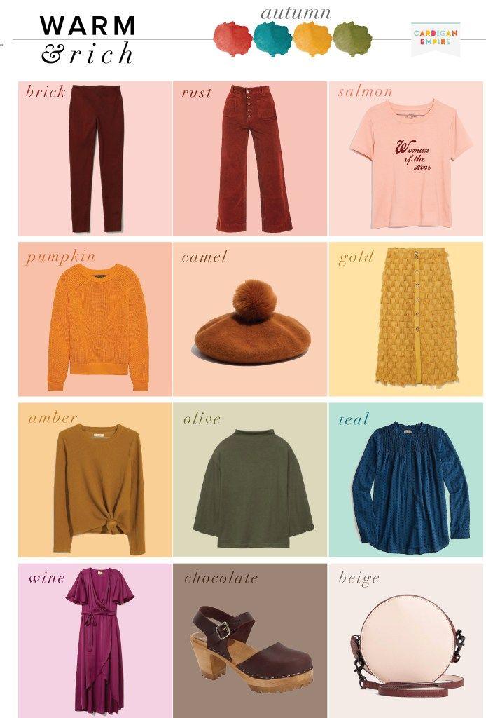 Seasonal Wardrobe: Autumn Capsule Wardrobe, Seasonal Color