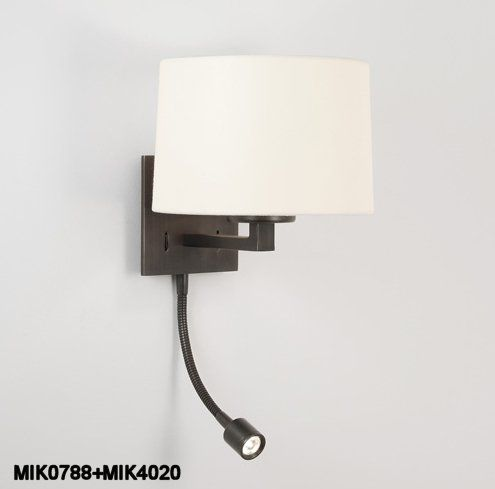 Astro lighting azumi classic led 2 light wall fitting in bronze finish lighting type from castlegate lights uk