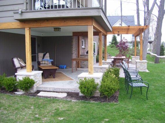 Under deck finishing ideas paarlberg patio and underdeck for Outdoor kitchen under deck