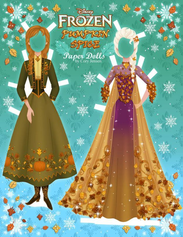 Disney's Frozen Printable Paper Dolls