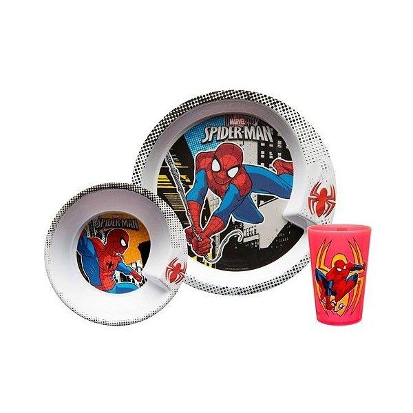 Zak Marvel Spider-Man 3pc Dinnerware Set Red ($8.99) ? liked on Polyvore  sc 1 st  Pinterest & Zak Marvel Spider-Man 3pc Dinnerware Set Red ($8.99) ? liked on ...