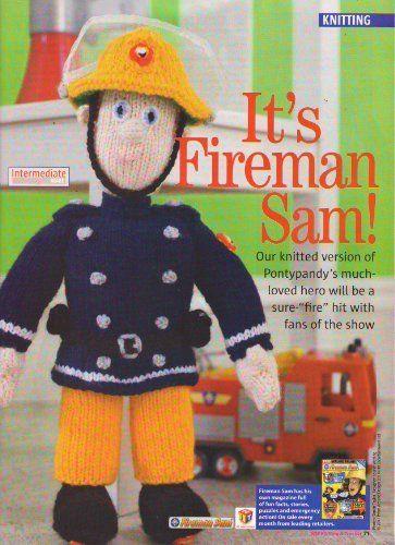 Knitting Toys Magazine : Fireman sam toy knitting pattern measurements cm high