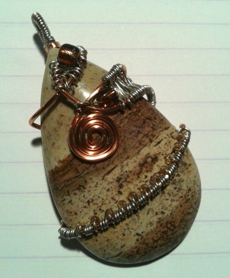 Wirewrap pendant.