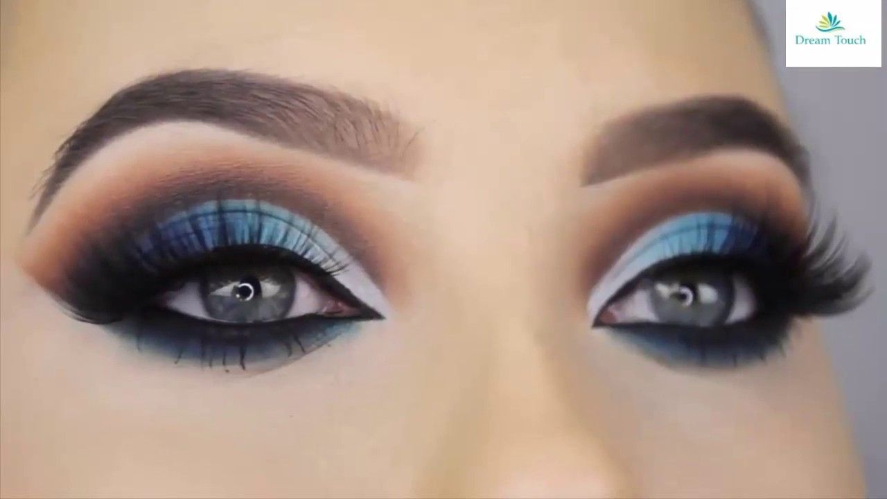 soft blue smokey eye makeup tutorial | navy blue eye makeup