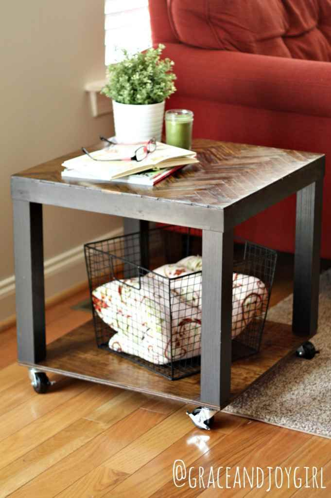 Table Basse Roulante A Partir De La Table Basse Lack Ikearecouverte