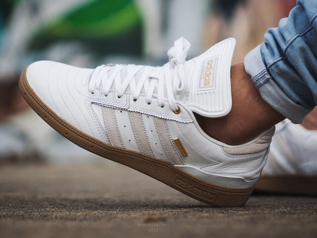 buy popular e5461 e27fb Adidas Busenitz Pro  10 Year Anniversary  - White Gum - 2016 (by  shoezen.one) Buy them here  Caliroots   Shoebacca