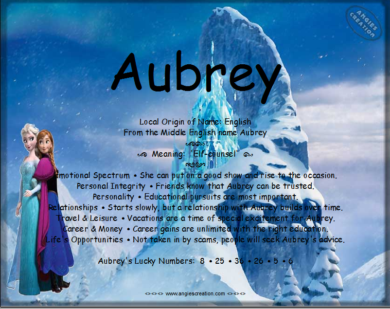 Aubrey | Aubrey, Names with meaning, Angie