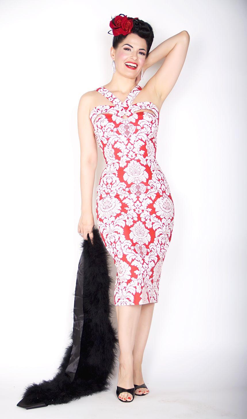 Bernie Dexter Pin Up Dress The Goddess Dress in Red Damask http ...