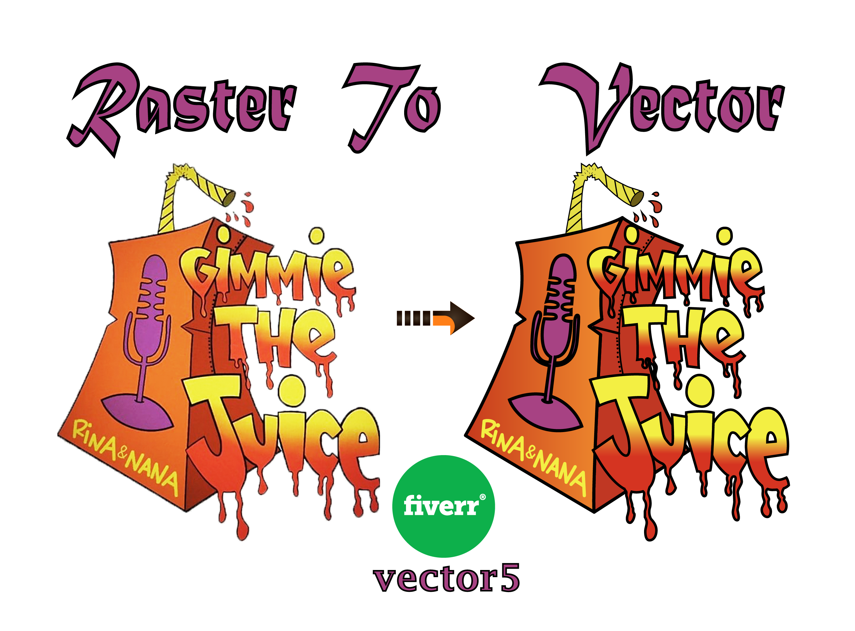 vector5 I will convert logo to vector with free source