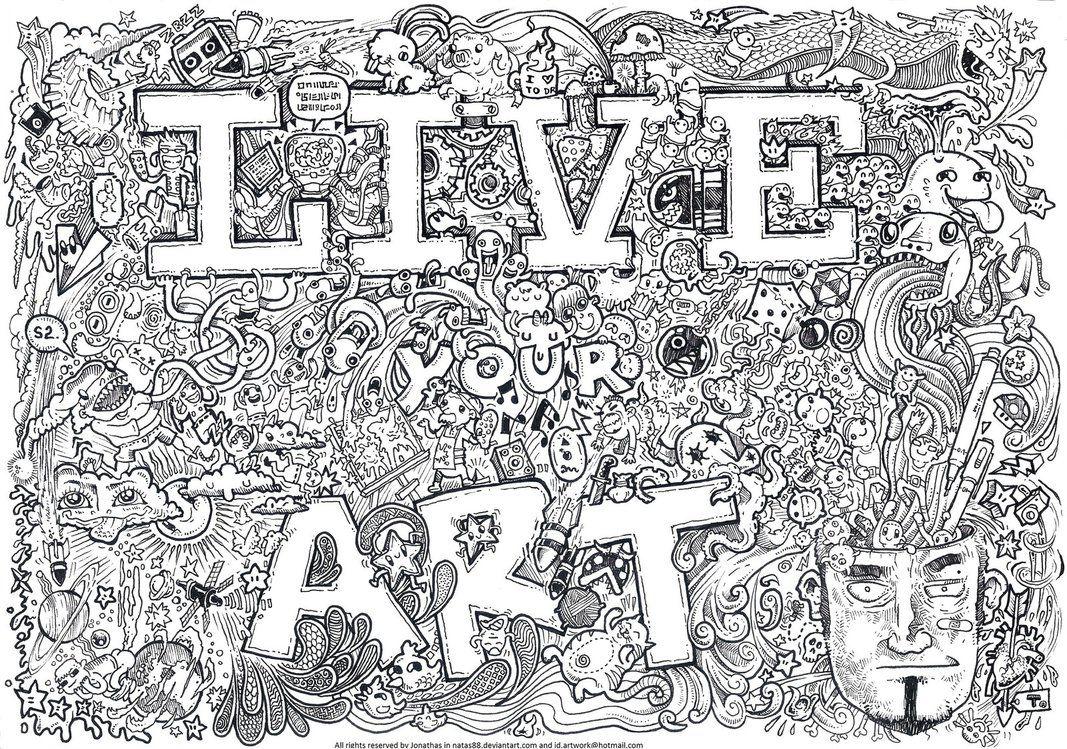 Live your Art by natas88.deviantart.com on @DeviantArt | DOODLE ...