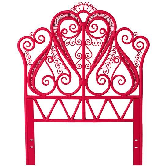 Aria Woven Headboard (Hot Pink) in Beds | The Land of Nod ...