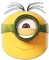 Maschera preistorica Minions™  Questa maschera da Stuart presitorica Minions™  di cartone piatta è 1a15d32bb7f