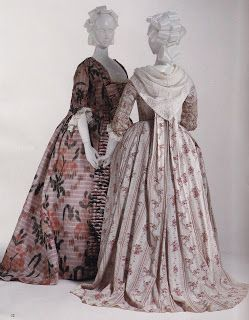 It is said that the new warp printed silks which created a blurred line in the design, were favoured by Pompadour herself.