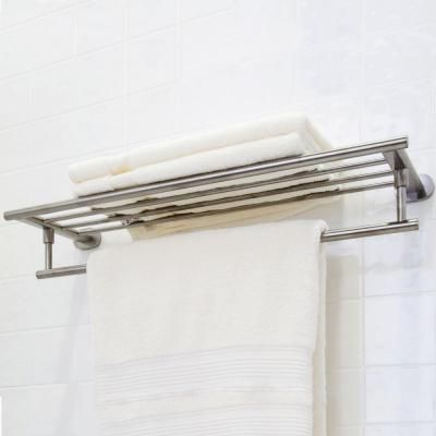 Vigo Ovando 24 In Round Design Hotel Style Rack And Towel Bar In