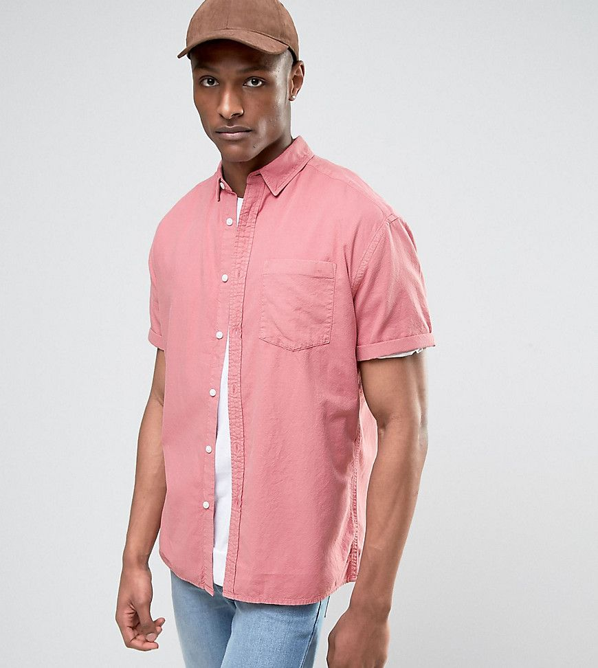 Get this Asos's oversized shirt now! Click for more details. Worldwide  shipping. ASOS TALL Oversized Oxford Shirt In Pink - Pink: Oxford shirt by  ASOS TALL, ...
