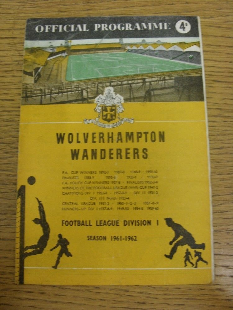 25/11/1961 Wolverhampton Wanderers V Arsenale (piegati, Piegato, indossato) condizione. in Sports Memorabilia, Football Programmes, Other Football Programmes | eBay