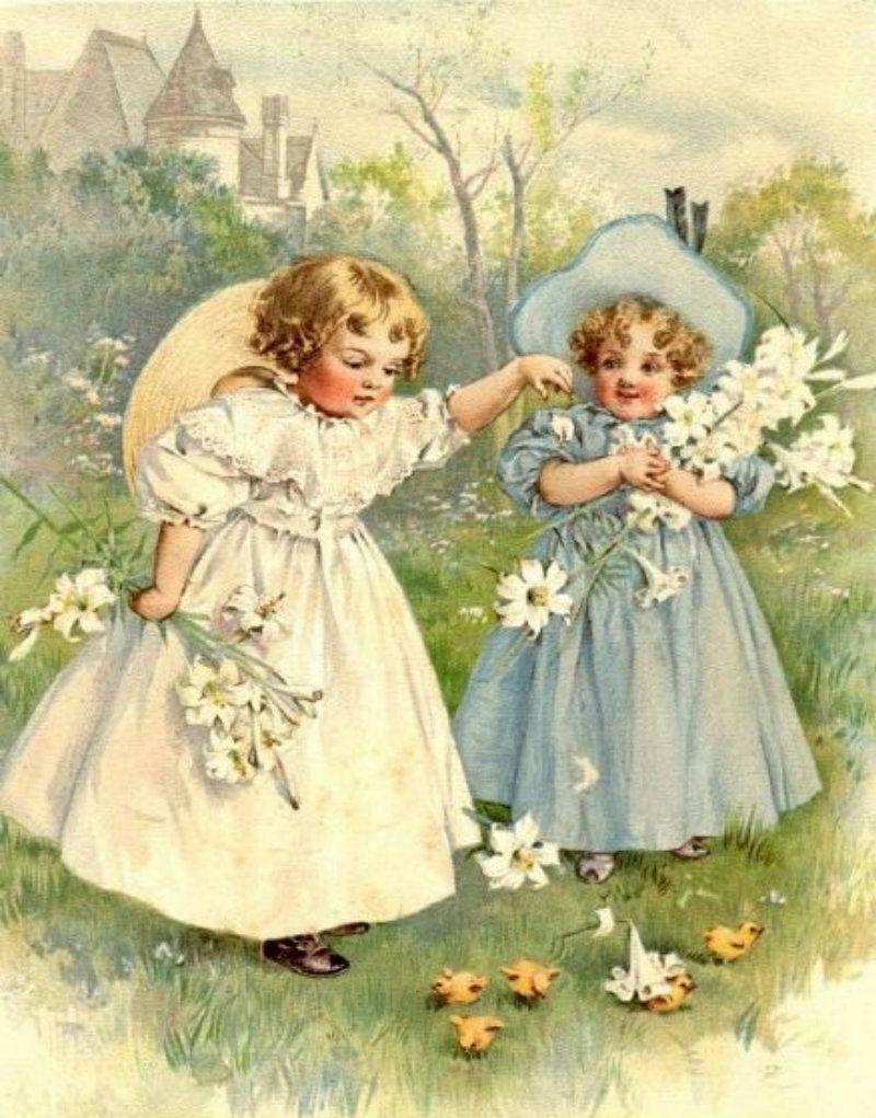 Maud (Bogart) Humphrey (1865 - 1940)  -   Easter Post Card  (800×1021)