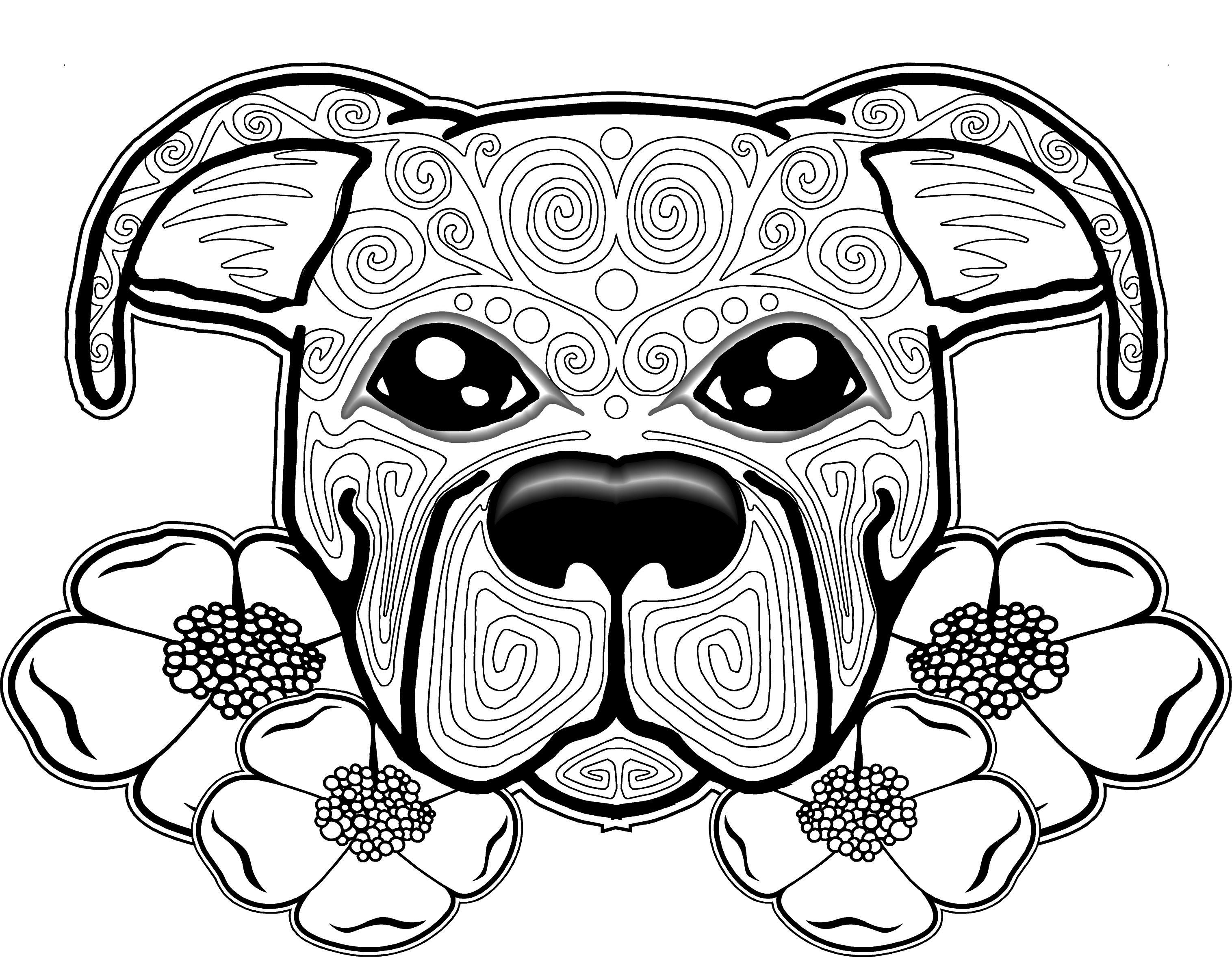 Free coloring pages sugar skulls - Dog Coloring Page Dog Coloring Pages Free Coloring Page Free Coloring Pages For
