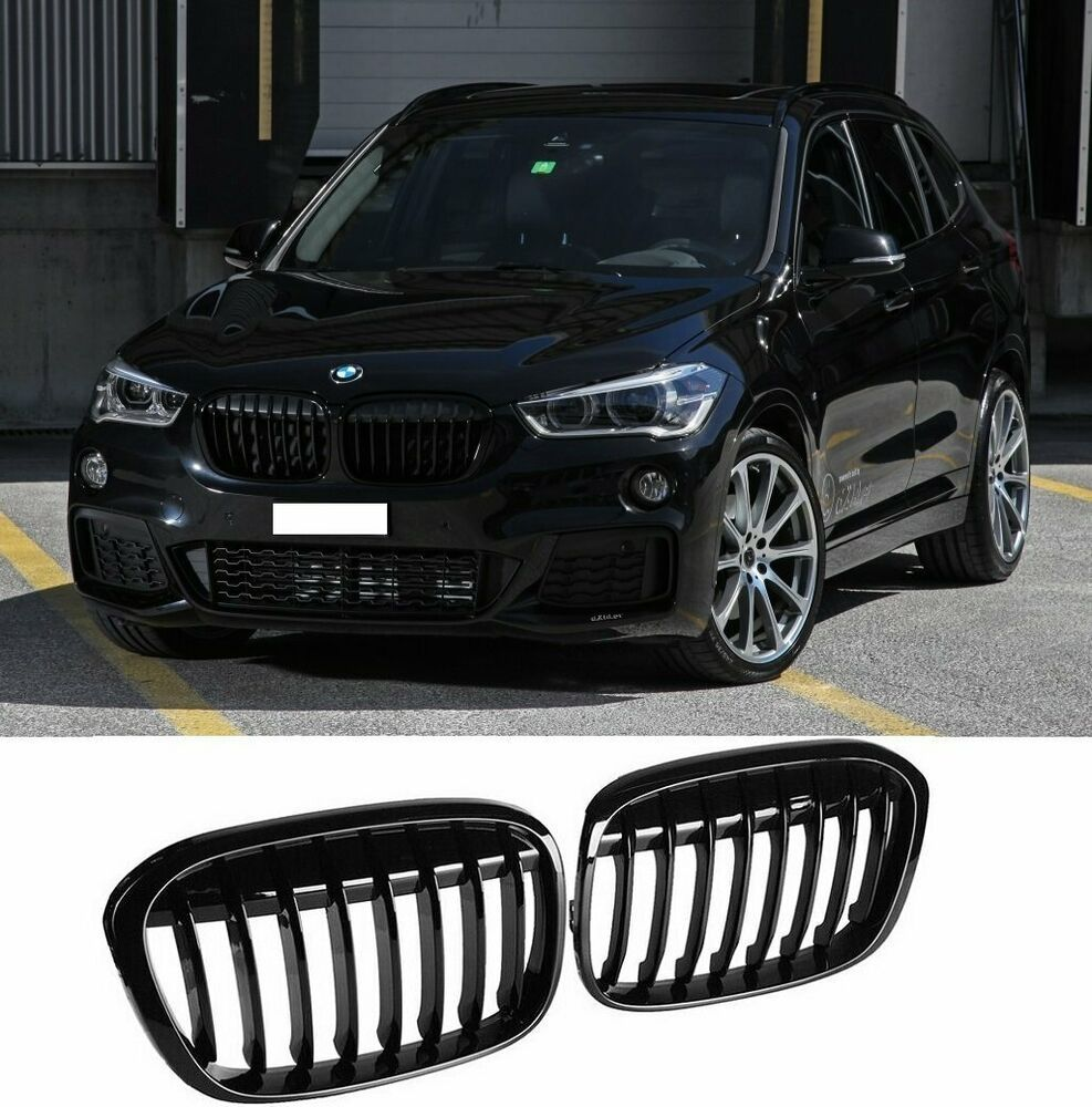 Glossy Black Front Sport Grille Grill For Bmw F48 F49 X1 Suv Sdrive 2016 2019 Optimal Verticalbillet Bmw Suv Bmw X Series
