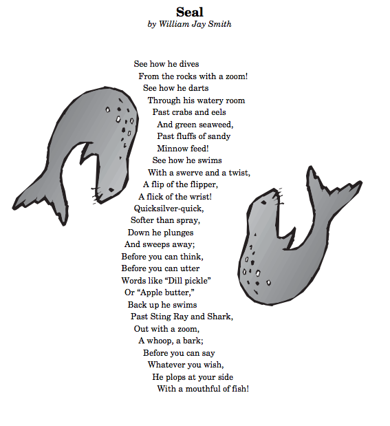 Poem Anthology Seal By William Jay Smith Poetry Analysis  Lesson