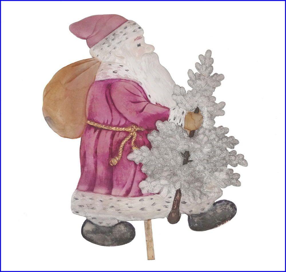 Nikolaus, Weihnachtsmann, Santa aus gepresster Pappe  um 1920 (# 6602)