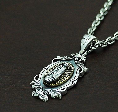 AVE MARIA 925 STERLING SILVER PENDANT gb-047