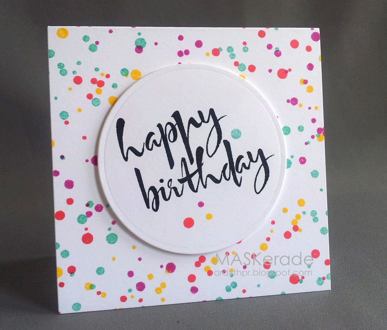 Maskerade I Heart Papers Gd Post 7 Casology 111 Under Simple Birthday Cards Birthday Cards Diy Birthday Card Drawing