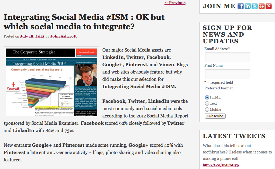 ISM is OK but which tools to integrate?