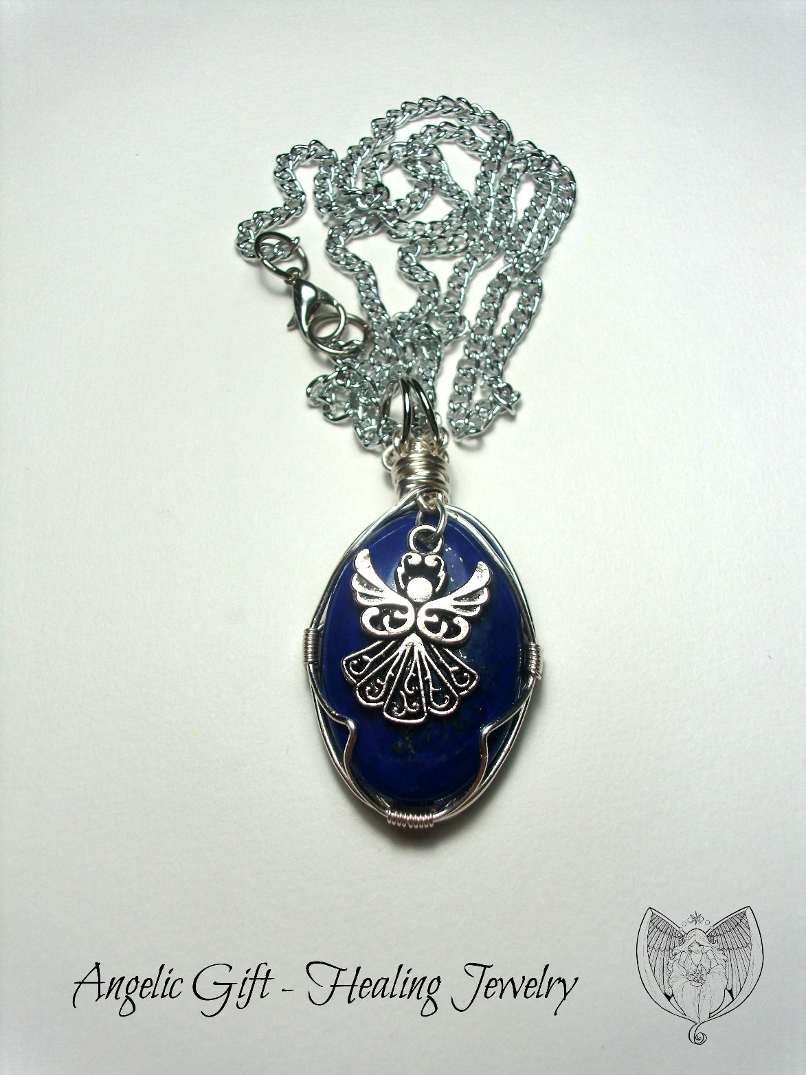 Wire wrapped Lapis Lazuli Healing Necklace Custom made Sold! Lapis ...