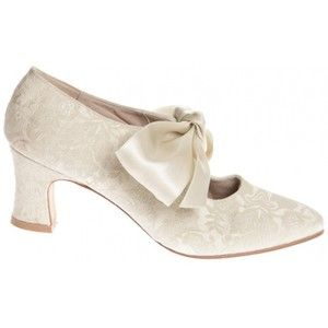 80s Laura Ashley New Cream Brocade Wedding Shoes Polyvore
