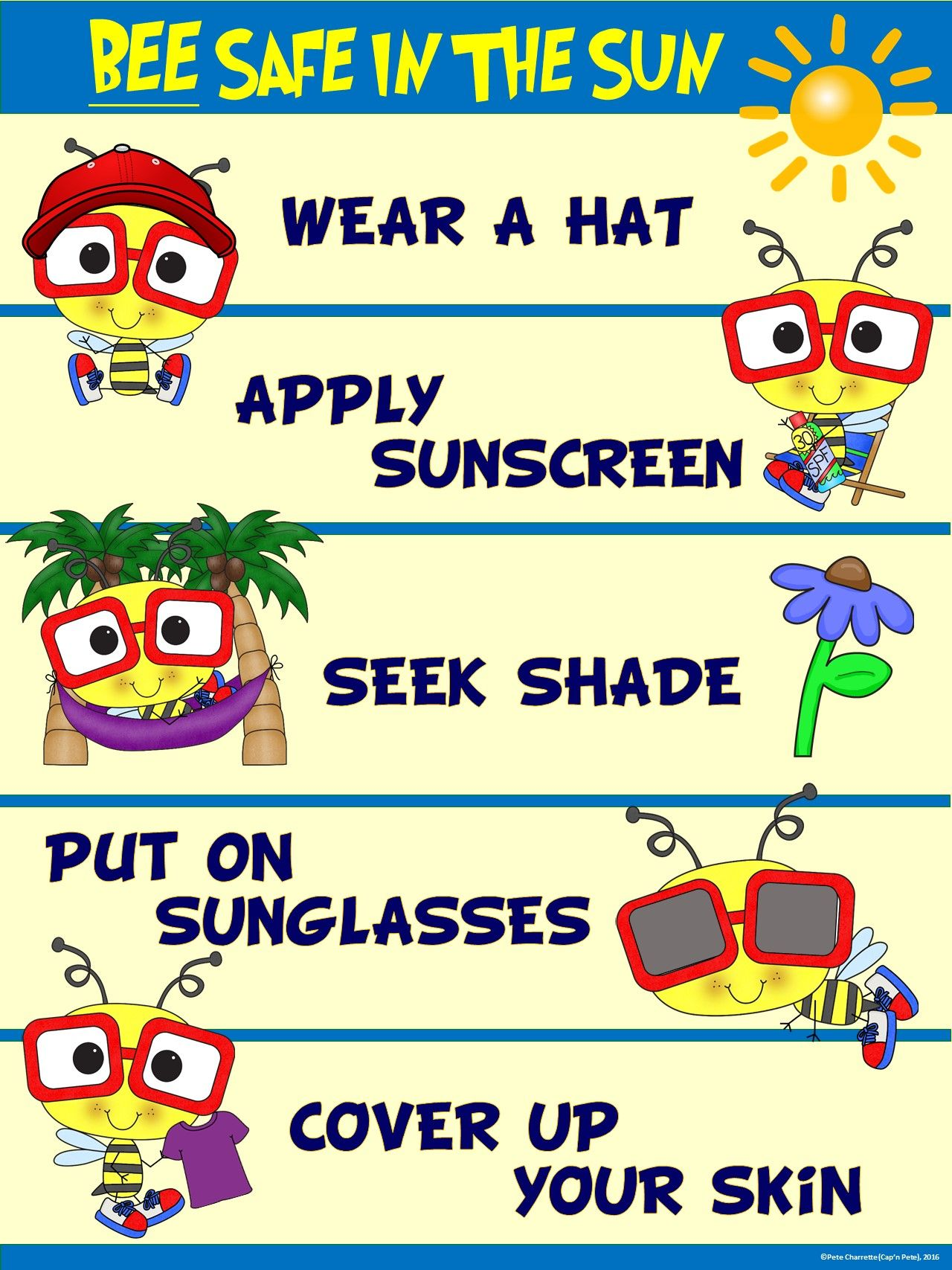 I Chose This Image Because It Tells Us What To Wear In Order To Be Safe And Have A Good Time At The Beach The Bene Sun Safety Activities Bee Safe [ 1707 x 1280 Pixel ]