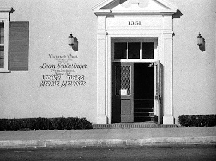 The Front Door To The Schlesinger Studios Where Warner Brothers
