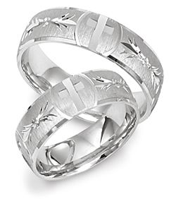 comfort fit wedding band with engraved cross design 426 - Cross Wedding Rings