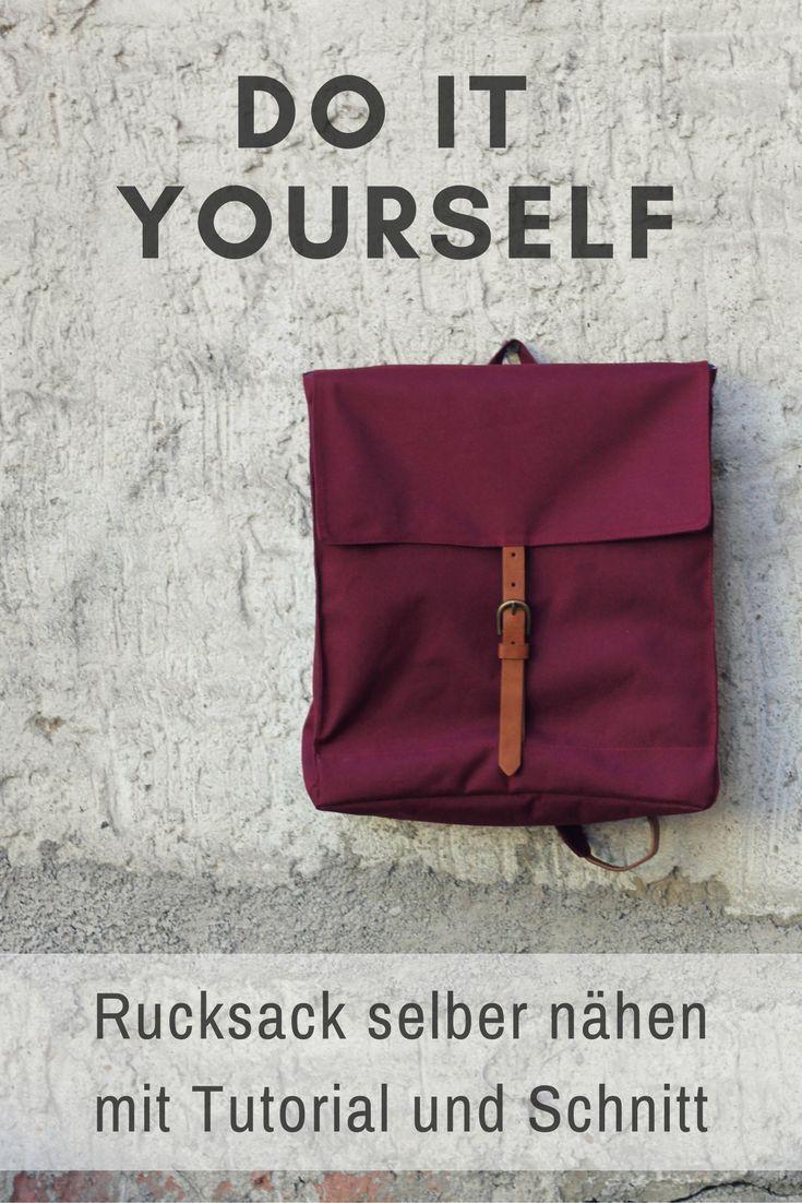 Coudre vous-même un sac à dos avec un tutoriel et un motif de fil Sailor   Gürt…   – diy backpack