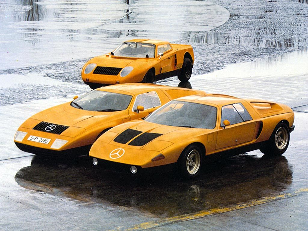 1969 Mercedes-Benz C111 prototypes. The C111 is an iconic Concep car currently shows in Mercedes-Benz-Museum