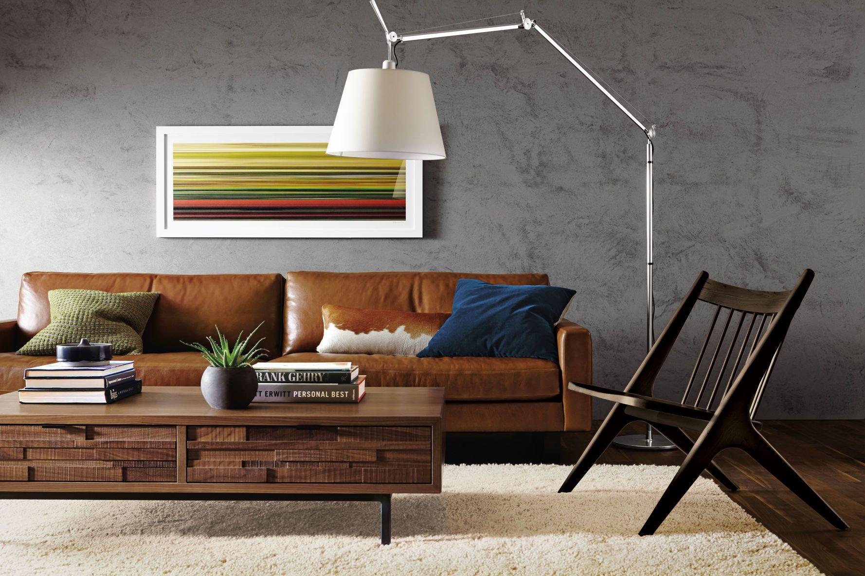Marvelous Hess Leather Sofa