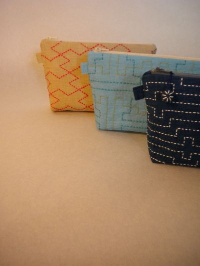 Sashiko Pouches | Flickr - Photo Sharing!