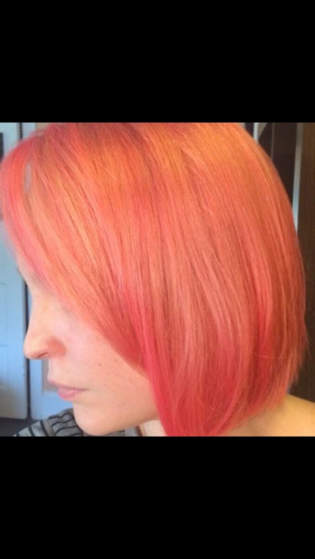 Manic Panic Fb Used Pretty Flamingo To Mix This Coral Colour