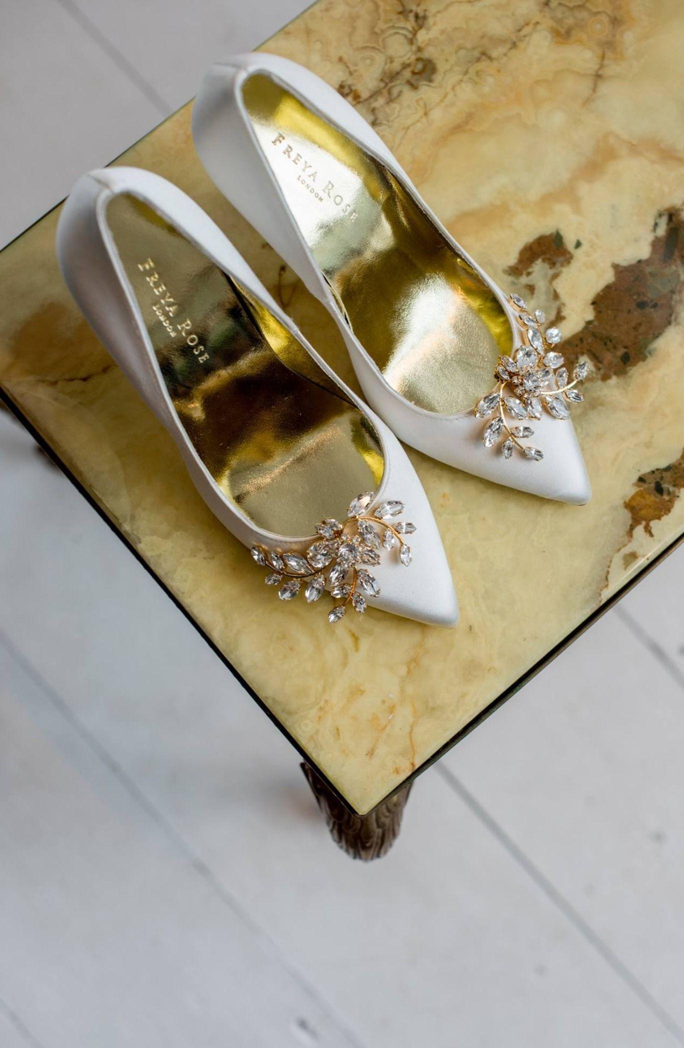 Freya Rose Haywood Gold Swarovski Crystal Embellished Shoe Clips - £195