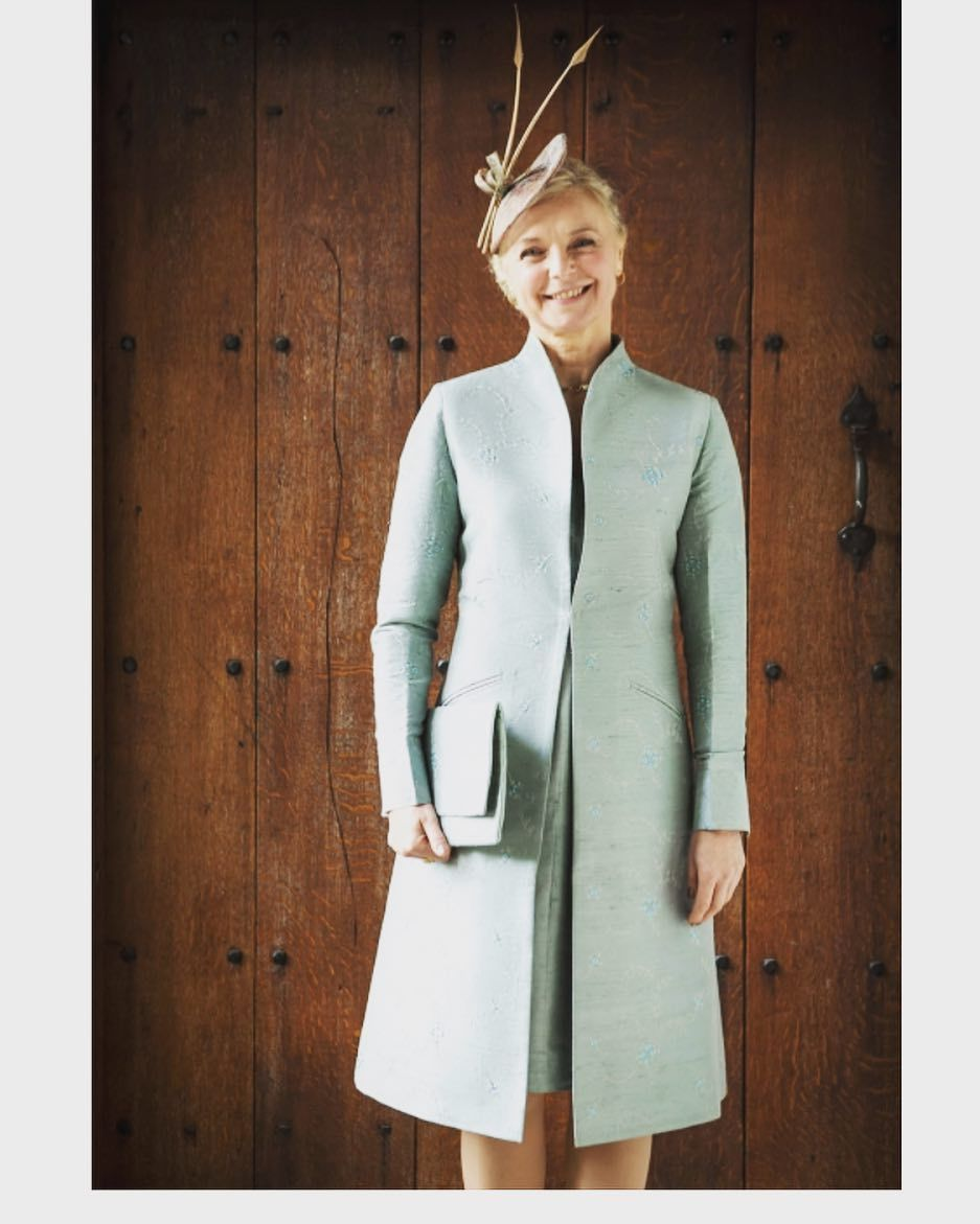 Wedding dress and jacket for guest  The best wedding guest outfit ever createdwell we think so