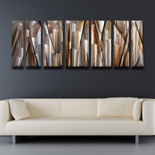 Details About Modern Contemporary Abstract Metal Wall Art Sculpture Brown Painting Home Decor