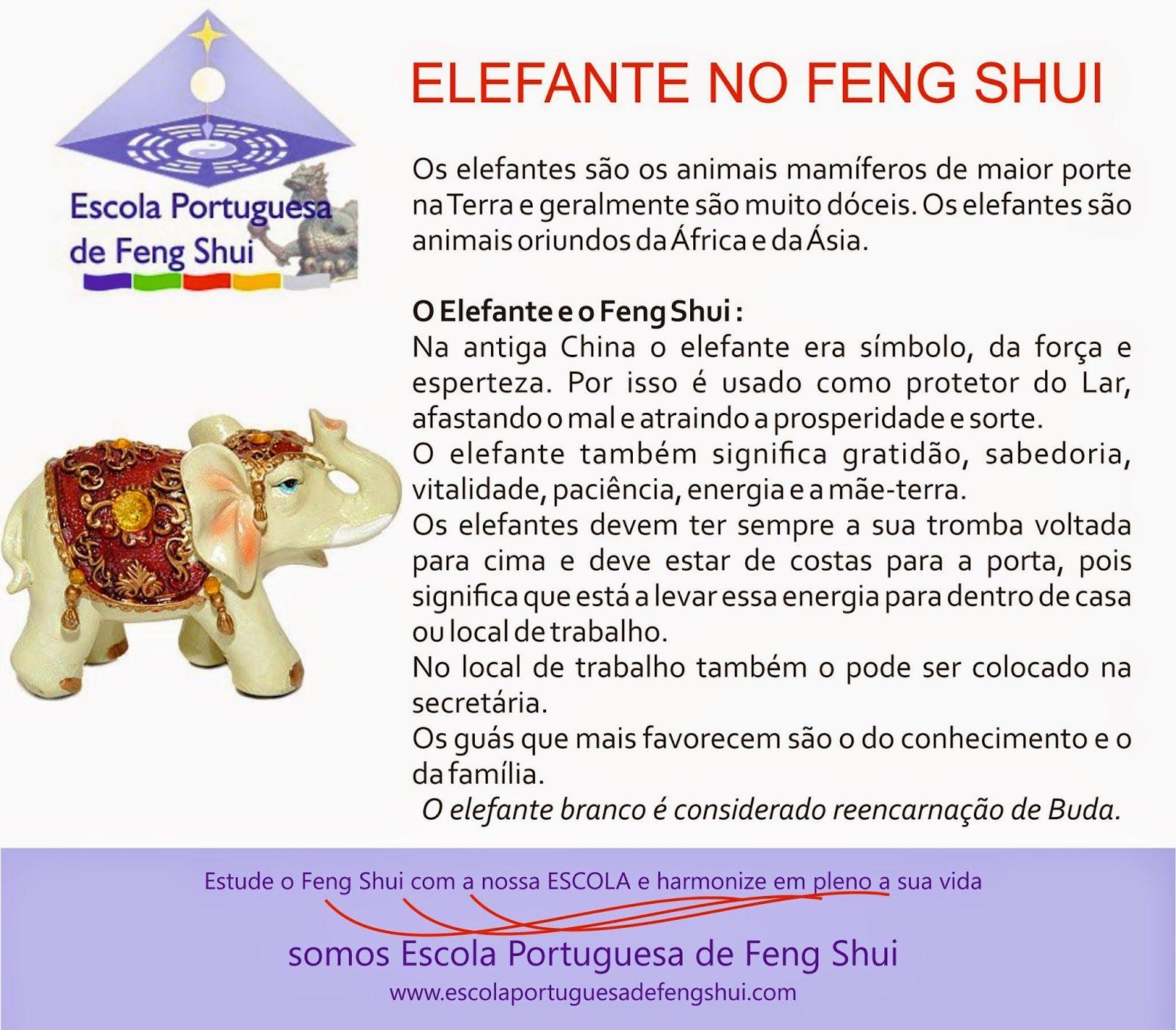 Escola Portuguesa de Feng Shui: ELEFANTE PARA O FENG SHUI                                                                                                                                                                                 Mais