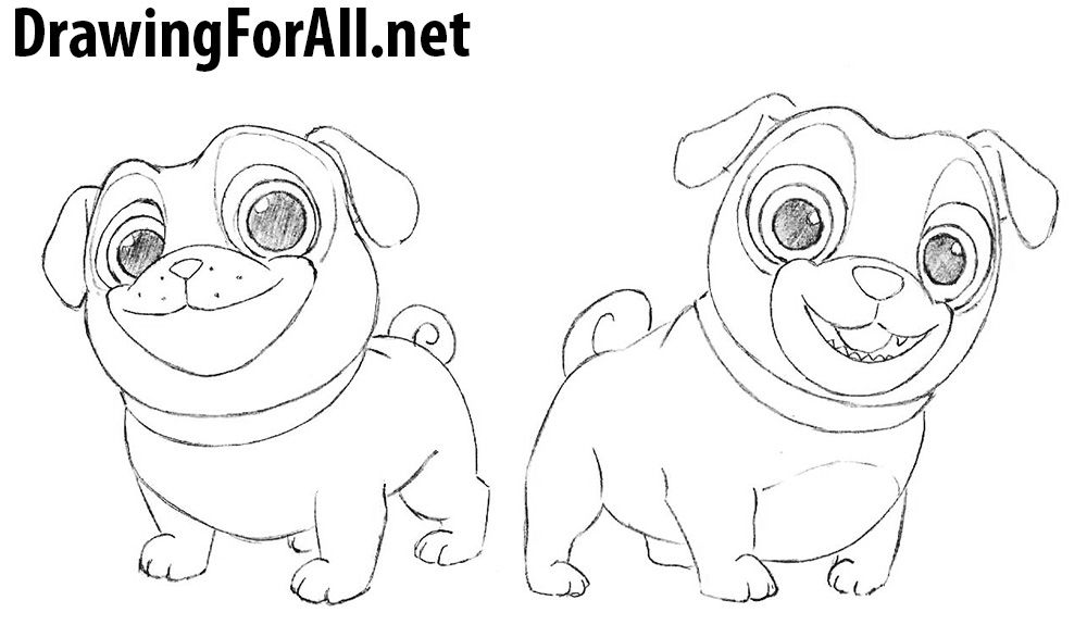 How To Draw Puppy Dog Pals Dogs And Puppies Drawings Cartoon Drawings