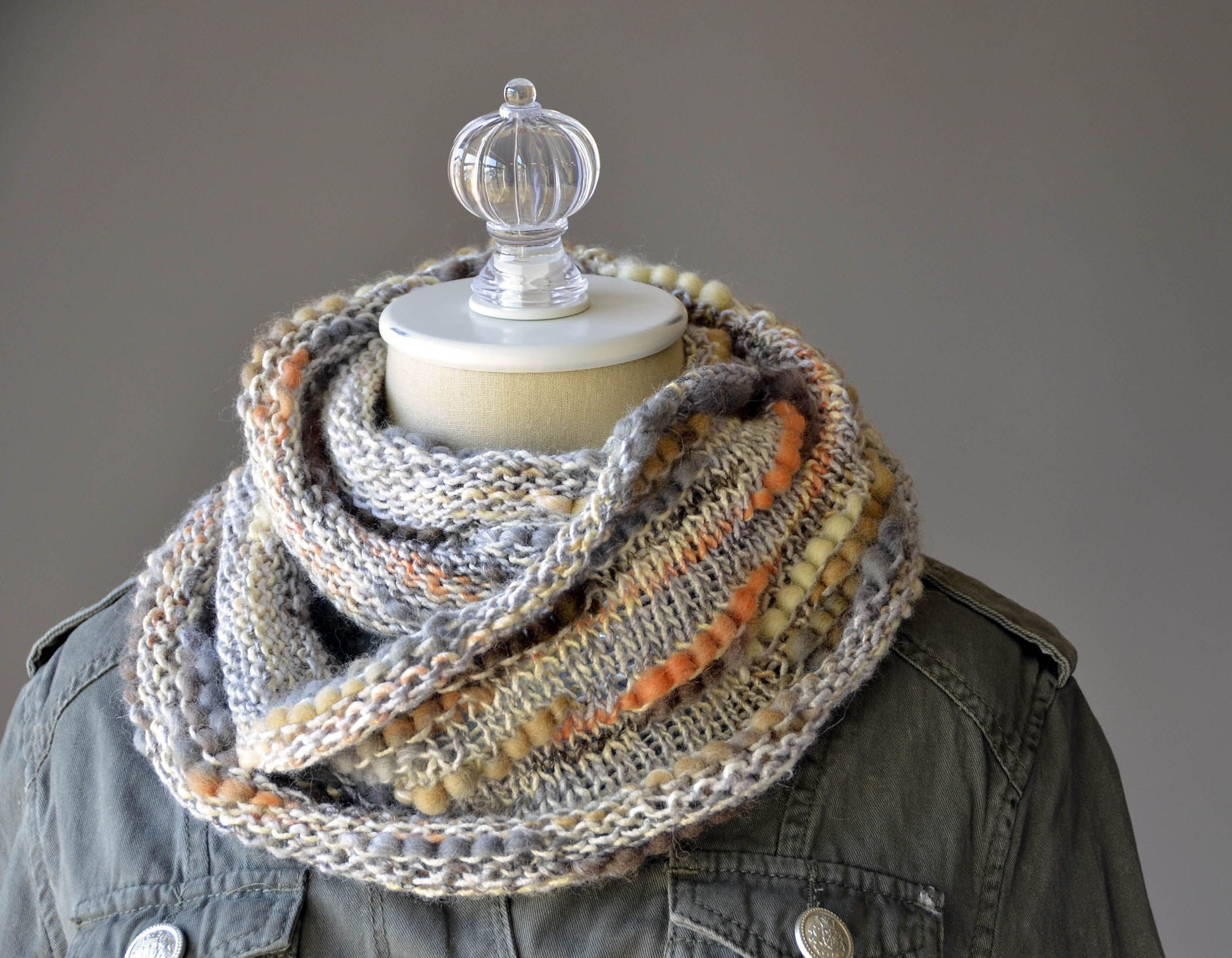 Free Knitting Pattern - the Interrupted Cowl takes one hank of ...