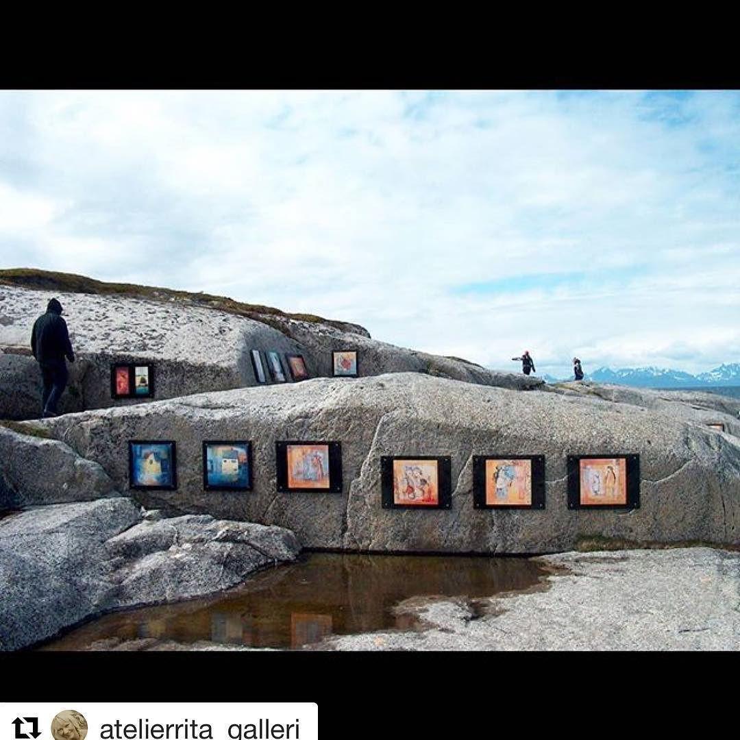 Utstilling i det frie. #reiseblogger #reiseliv #reisetips #reiseråd  #Repost @atelierrita_galleri (@get_repost)