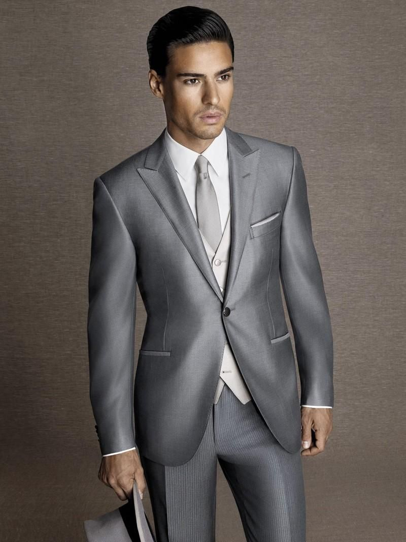 silver groomsmen suits - Google Search | My Ideal Wedding ...