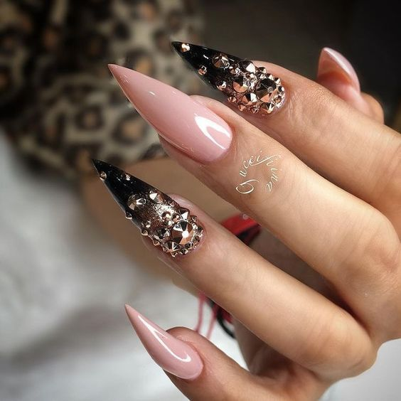 65 Short Long Acrylic Stiletto Matte Nail Design For Winter Spring
