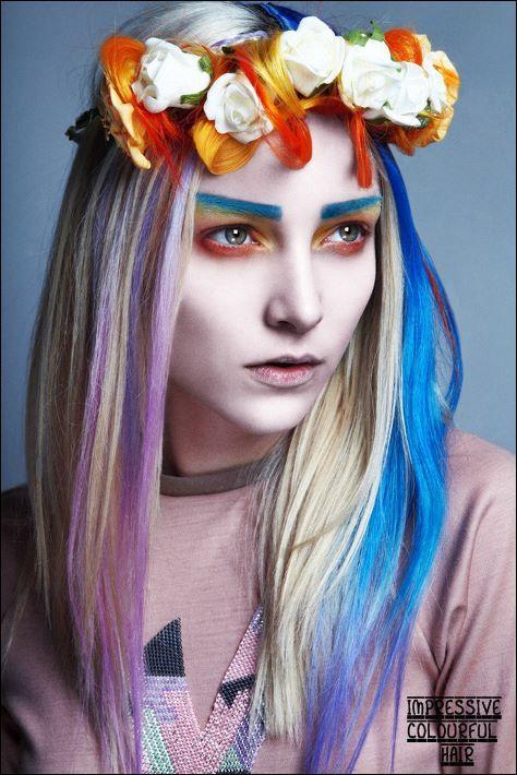 """impressive colourful hair"" + impressive make-up"