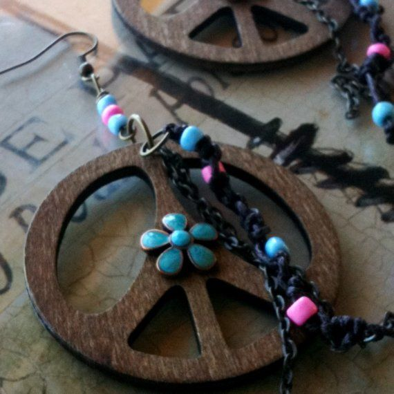 Much Peace And Love Earrings by TheBohemianGypsy on Etsy, $24.00