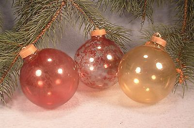 Christmas Ornament Tops.3 Vintage 1940 039 S War Years Glass Christmas Ornaments